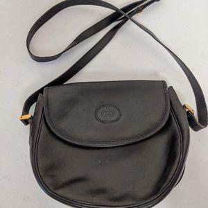 Vintage Black Leather Gucci Crossbody
